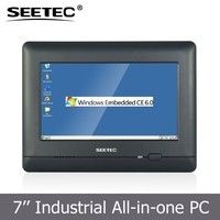 7 inch rugged touch screen panel rs485 RS232 industrial wince pc all in one computer