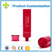 High quality cosmetic packaging red color Peeling gel tube for hot sale