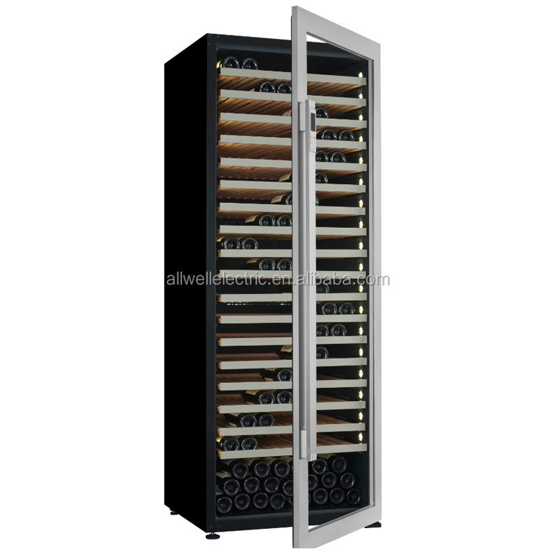 Big freestanding dual temperature indoor white american amazing wine cellar