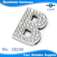 Crystal letter B bag accessories buckle