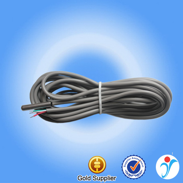 SUS 6*30mm stainless steel ds18b20 gray round cable 10m ds18b20 three wire temperature ds18b20 sensor