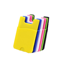 2016 new premium customized silicone ID card holder mobile phone case for iphone 7 wallet case