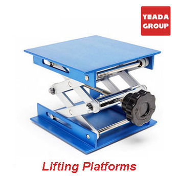 4*4'' Yeada Glovebox Aluminum Lab Lifting Platform Stand Rack Scissor Frame Lab-Lift Lifter
