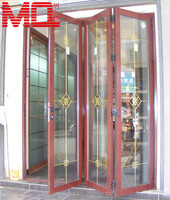 Aluminum accordion doors with locks for house