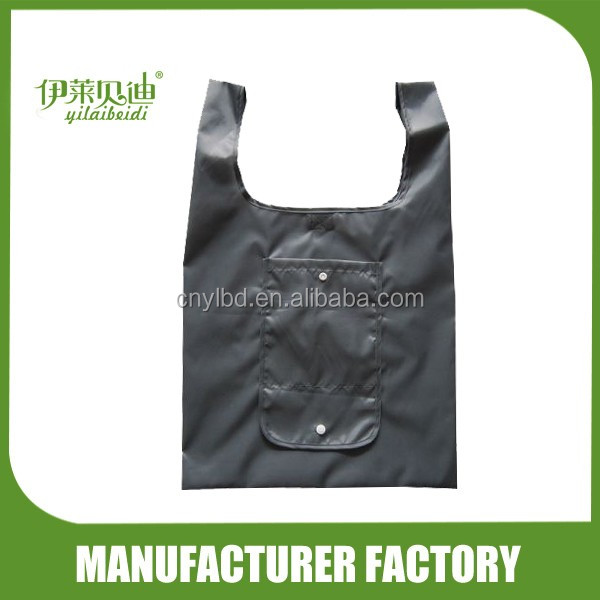 2017 Hotsale Easy Carry-on Foldable Shopping Tote Bag Factory/ T-Shirt Vest Shaped Polyester Foldable Shopping Bag Custom Made