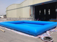 2015 hot sale above ground pool china large inflatable pool rental