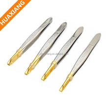 Makeup Tools Gold Eyebrow Tweezers In Bulk Professional Ingrown Hair Tweezers