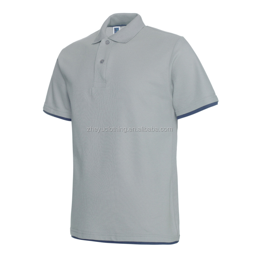 Men's 100%cotton pique fabric 220gsm weight polo shirt custom embroidery&print logo