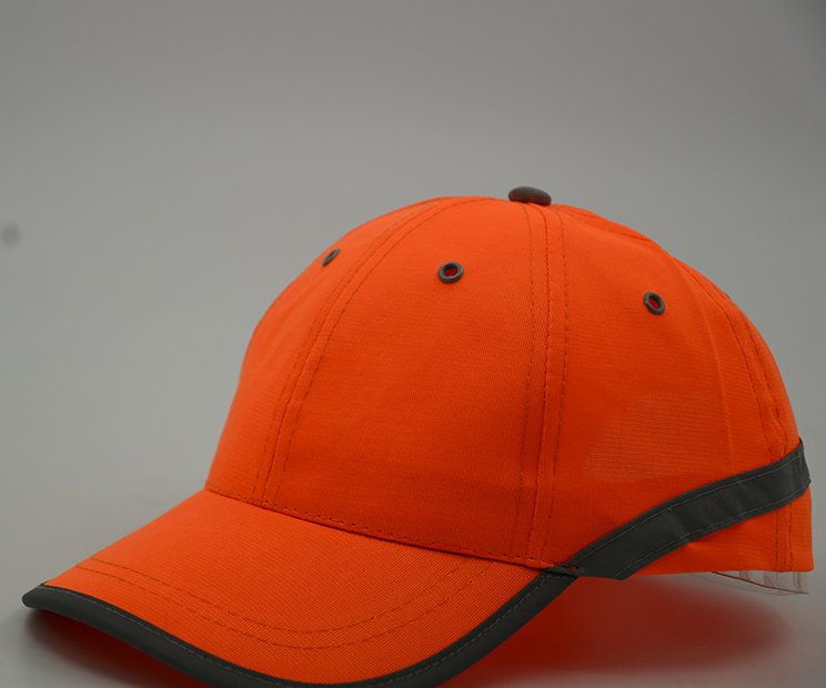high quality orange with embroidery sandwich baseball caps
