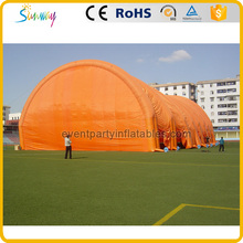 Good design large orange inflatable tennis court tent for sport