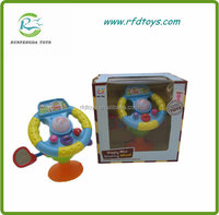 Funny plastic baby steering wheel toy with music and light steering wheel toy