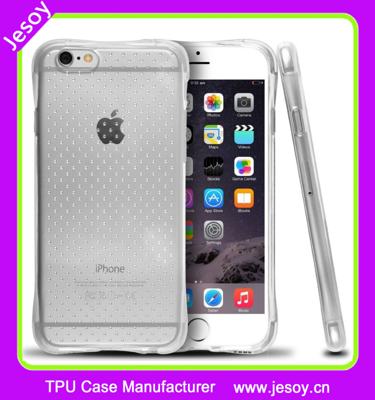 JESOY Shockproof TPU GEL Slim Bumper Air Cushion Cellphone Case Cover for iPhone 5s 5C 6 6S plus