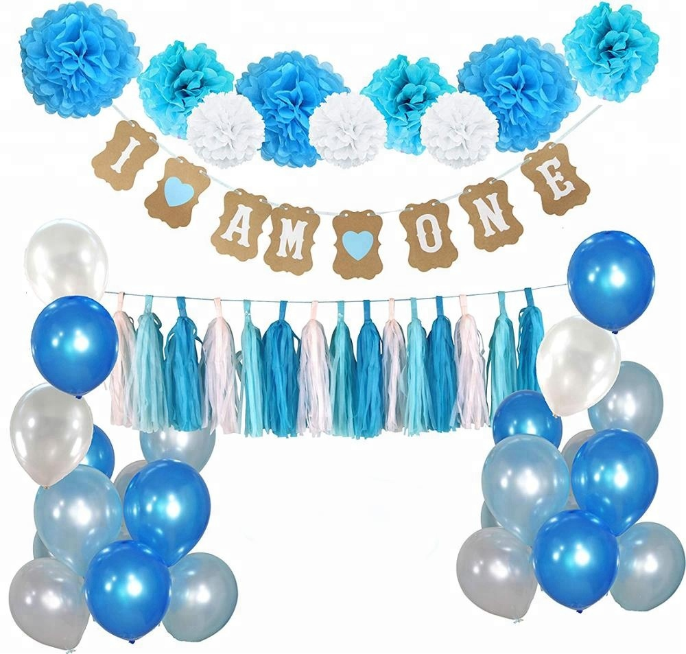 EasternHope Birthday Decorations Set Boy Baby Shower First