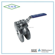 Stainless Steel 1PC Wafer Flange Ball Valve, Reduced Bore, PN16, with ISO 5211