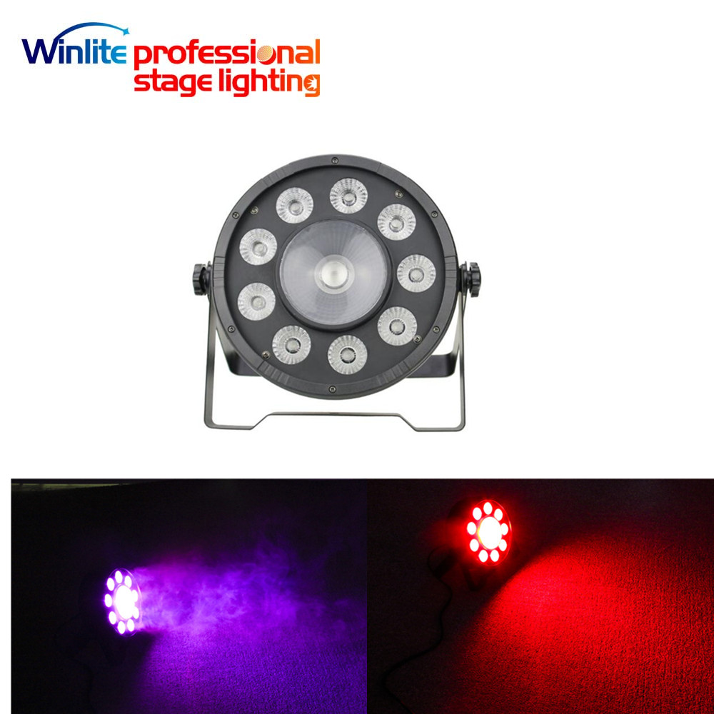 mini 9x10w 3in1+1x30w 3in1 round led flat par light