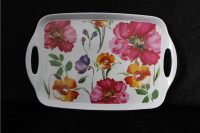 Flower Print Melamine Homeware tray, Plastic tray