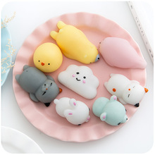 Factory promotional selling squishy toys decompression animal figures TPR dolls