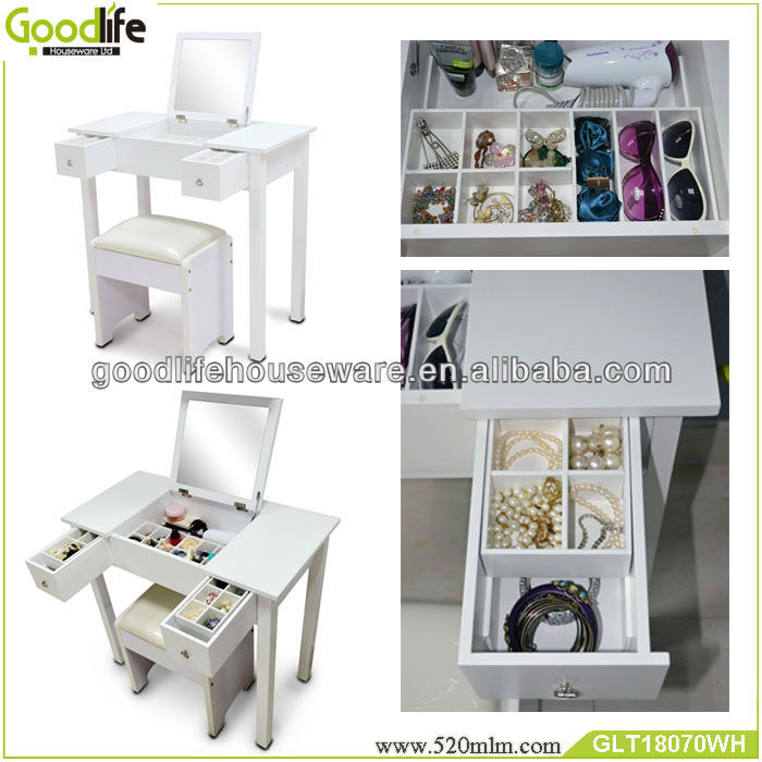Chinese furniture moden design dresser mirror table with stools
