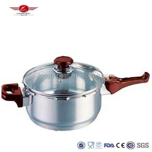 Stainless steel pressure soup cooker pot with glass cover