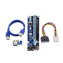 2017 new arrival 006 USB 3.0 iser pci-e x1 x16 Riser Card Adapter Power Cable