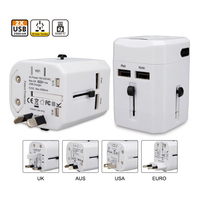 High Quality 360-Degree Rotation Type Universal Travel Adapter,New Hot Smart Design Charger on USA Amazon
