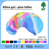 Colorful Silicone Swimming Cap For Long Hair