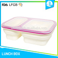 China market nice design silicone rectangular plastic lunch box