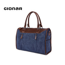 Handsome Discount Dark Blue Leather Weekend Canvas Large Military Duffle Bag
