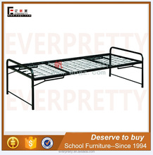 Folding adjustable height metal bed frame, single quality beds guangzhou, flat bed frame