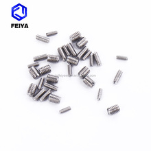 stainless steel slotted headless set screw by turning in stock