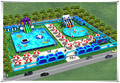 Cheap Indoor Outdoor Water Park Equipment, Inflatable commercial water park