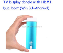 Best selling products!!! smart tv stick android mini pc with Quad Core intel Z3735F
