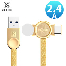 2 in 1 flat charge cable mobile phone type c micro usb charger data cable for apple iphone