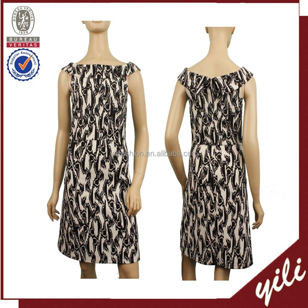 Latex office wear dress factory OEM Ladies party formal dress WD150832582