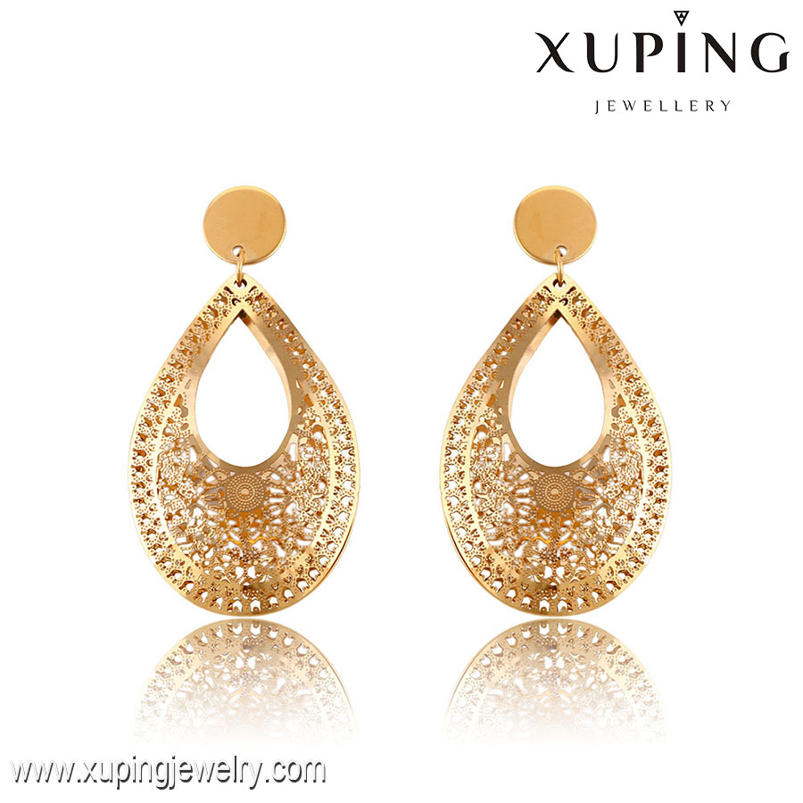 91345- Xuping Hot Sale Waterdrop Earring Drop Jewelry With Stainless Steel