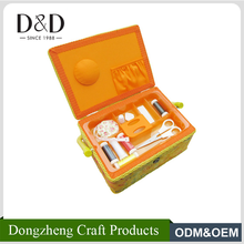 D&D plastic wicker handle sewing Baskets Polyester Fabric storage boxes housholde craft box