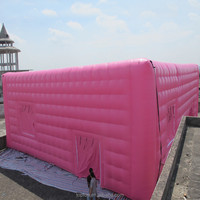 Pink giant inflatable wedding cube event tent