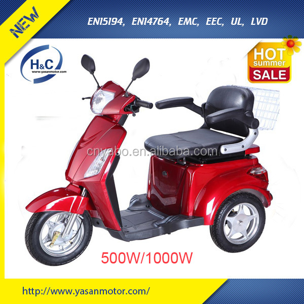 China new products three wheel handicapped bike/electric three wheel bike with 60V battery