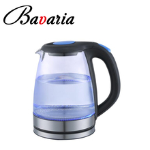 CB CE Approval HOT Sell in Dubai 1.7L Blue LED Glass Kettle With Color Changing