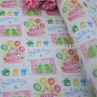 HOT! 60gsm happy birthday party design balloon wrapping paper gift flower book packing material 52*75cm papel