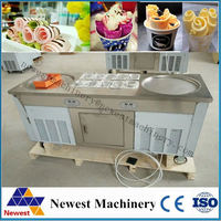 fried ice cream maker/automatic fried ice cream machine/fried ice cream table in low price/fried ice cream table with cold stone