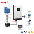 5KW 48V hybrid solar power inverter with charger and MPPT controller for solar system