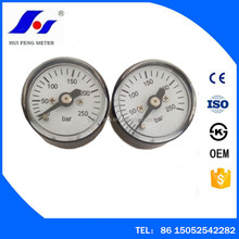 Yangzhou Reliable 23.5mm 0-250bar Safety Gas Safety Small Tiny Pressure Gauge For Airgun