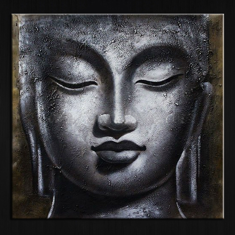 2017 Handpaint Canvas Buddha oil Painting Painted Decor Art Modern in China