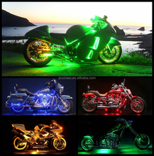 Super Bright 60 Motorcycle LED Neon Light Kit - Multicolor, 10 Flexible Strips with Remote Control