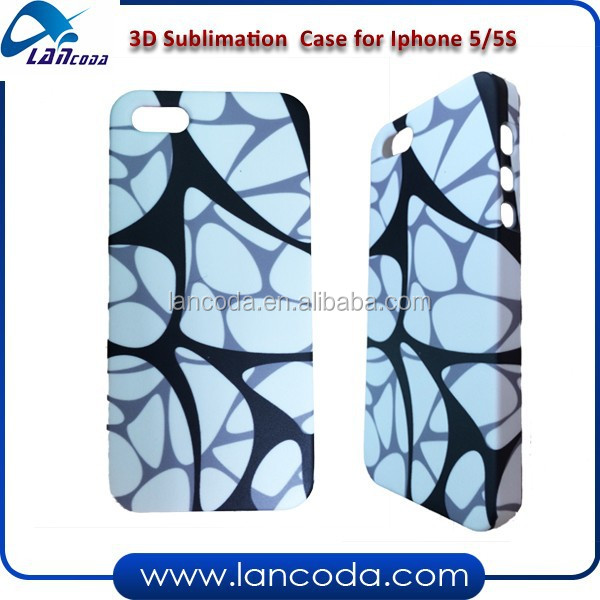 3D sublimation mobile phone case for iphone5/5s cell phone cover heat transfer