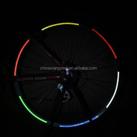 customized decorative reflective sticker for bicycle wheel