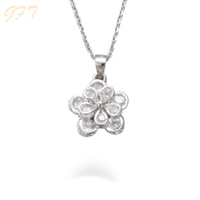 925 sterling silver white stone necklace set high quality diamond necklace