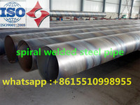 SSAW Spiral Submerged Arc Welded Steel Pipes/steel tube, 3 to 12m Length, 219 to 3048mm Outer Diameter