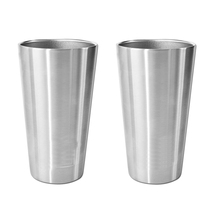 16oz 450ml powder coated double wall 18/8 stainless steel beer cup pint cup